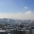 山は雪化粧